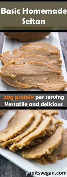Learn how to make seitan at home with this basic homemade seitan recipe. Homemade Seitan Recipe, Seitan Recipes, Vegan Seitan Recipe, Vegan Recipes Easy, Whole Food Recipes, Vegetarian Recipes, Cooking Recipes, Recipes Dinner, Foods With Gluten