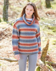 Hayfield 10034 Sweater in Hayfield Spirit DK/#3 weight yarn Knit Crochet, Crochet Patterns, Turtle Neck, Spirit, Pullover, Knitting, Lady, Sweaters, Fashion