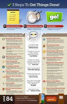 3 Steps To Getting Things Done  Infographic