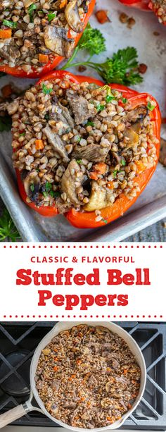 Delicious and healthy stuffed bell peppers make for the perfect family dinner. These peppers are easy to prep and full of nutritious and healthy ingredients. These peppers are the perfect thing to prep for dinner, they are easy to make and taste amazing. These peppers make for the perfect weeknight dinner. #stuffedbellpeppers