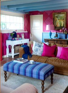 """This colourful living room is from our feature """"Heavenly Living"""""""
