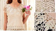 Crochet blouse d'été - Patrons