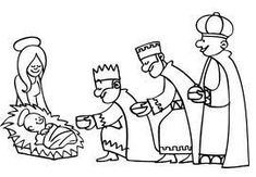 Three Wise Men Coloring Page Sketch Coloring Page 3 Rois Mages, Kings Day, Three Wise Men, New Testament, Doll Patterns, Sunday School, Pencil Drawings, Coloring Pages, Yule