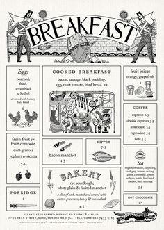 Page from Quo Vadis website with Illustrations by John Broadley. Menu design by Julian Roberts at Irving. Website design by Thumbcrumble