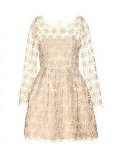 Embellished Silk Organza Dress Oscar de la Renta #dress #oscardelarenta #women #designer #covetme #fashion #style