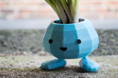 Oddish Planter with Snap Together Legs by CarryTheWhat.