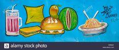 Resultado de imagen para Fast Food Restaurant Advertisement Painted