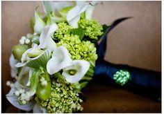 Green, White & Navy Bouquet
