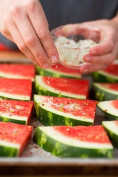 How To Grill Watermelon | Grilled watermelon sounded strange to me at first too, but the grill caramelizes the melon's sweetness and gives it a subtle, smoky flavor. Paired with a sweet and spicy seasoning, grilled watermelon can be an intriguing side dish or a surprising dessert.