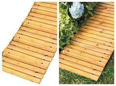 Wooden-Outdoor-Walkway-Path-Way-Rollout-Ground-Garden-Lawn-Patio-Road-Home-Cedar