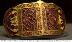 Schmuck aus Almandin, Grab von Sutton Hoo