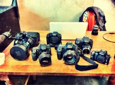That's a sweet collection, including the new Sony FS100... Phillip Bloom again (dude always has the sweet new gear).