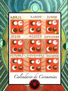 RED RUBÍ: Calendario de Ceremonias y Diagrama Lunar                                                                                                                                                                                 Más