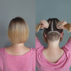 Shaggy Medium Length Bob - 60 Messy Bob Hairstyles for Your Trendy Casual Looks - The Trending Hairstyle Blunt Bob Hairstyles, Undercut Hairstyles, Trending Hairstyles, Badass Haircut, Short Hair Cuts, Short Hair Styles, Shaved Nape, Shaved Bob, Undercut Bob
