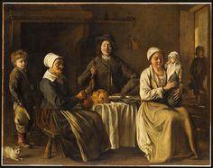 La Famille heureuse ou le retour du baptême, Louis Le Nain, (C) RMN-Grand Palais / Jean-Gilles Berizzi