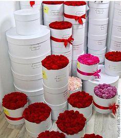 Купить box roses 25 - ярко-красный, цветы, розы, цветы, розы