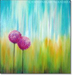Gracias por tu visita y disfruta! Se trata de una pintura de acrílico paisaje floral abstracto con textura original con el título: nuestro amor Es una pintura de flores paisaje acrílico texturado en galería envuelto lienzo libre ácido con bordes libres básicos: tamaño: 24 x 24 x 1, 5 (60cmx60cmx3, 6cm) y no está pintado a lo largo de los bordes necesidad de marco está listo para colgar. Se ha aplicado barniz de brillo de alta calidad y la pintura está firmada por mi e incluye un COA envío…