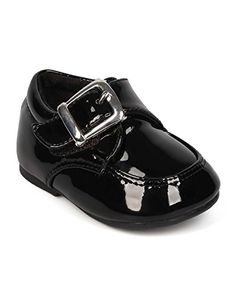 Alrisco EI29 Boy Patent Leatherette Velcro Buckle Dress Shoe Infant  Toddler  Black Size Infant 2 >>> Check this awesome product by going to the link at the image.Note:It is affiliate link to Amazon. #BoyClothing
