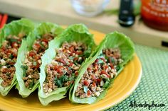 Asian turkey lettuce wraps, packed with protein.