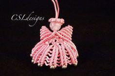 how to make a macrame angel. I hope you enjoy. Materials: 7 cords of . Macrame Owl, Macrame Jewelry, Macrame Bracelets, Macramé Angel, Macrame Patterns, Crochet Patterns, Christmas Angels, Christmas Ornaments, Christmas Christmas