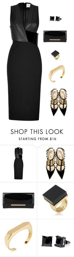 """Untitled #1016"" by mrseclipse ❤ liked on Polyvore featuring Dion Lee, Valentino, Jimmy Choo, Trina Turk, Yves Saint Laurent and Simon Frank"
