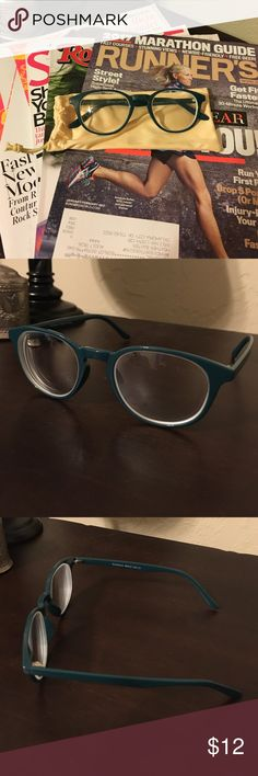 Teal Green Women's Frames-Host Pick! Host Pick - Work Week Chic! Lightweight plastic frames. Measure 39mm high, 125mm arm to arm across the front and 19mm across the bridge of the nose. Never worn. They do currently have prescription lenses in them, but those can easily be replaced. Save $$$ by bringing your own frame! Make an offer! Sea Breeze Accessories Glasses