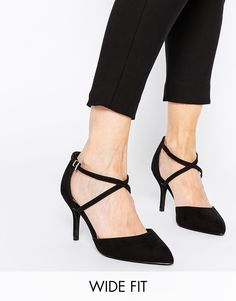 ASOS SALLY Wide Fit Pointed Heels