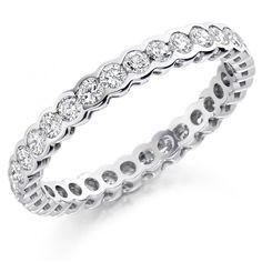 The Raphael Collection Platinum 1.00ct round brilliant cut diamond full eternity ring.
