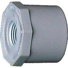 Genova Products 34254 1.5-inch x 1.25-inch PVC Sch. 40 Reducing Bushing