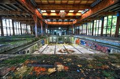 An abandoned pool at the Grossinger's Catskill Resort Hotel in the Town of Liberty, one of the grander venues in the of the area which closed its doors in 1986