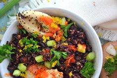 Sweet n' Spicy Black Rice Crab Salad by Amie Valpone