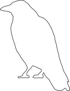 free primitive stencils | Crow Stencil Free Pic #15