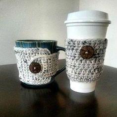 Preview Coffee Mug & Travel Cup Cozy Set Rustic Aran by EntertainingTopStar