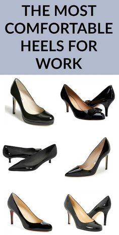 Guide to comfortable heels work comfortable work heels, comfortable dress s Womens Fashion For Work, Work Fashion, Fashion Shoes, Women's Fashion, Future Fashion, Ladies Fashion, Fashion Clothes, Sneakers Fashion, Fashion Ideas