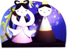 七夕飾り・・織姫様と彦星様