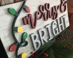 merry christmas Merry and Bright Christ - Merry Christmas, Christmas Signs, Christmas Projects, All Things Christmas, Holiday Crafts, Christmas Holidays, Christmas Decorations, Holiday Decor, Christmas Ideas