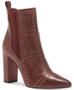 Vince Camuto Basila Studded Ankle Booties - Red 6.5M
