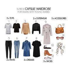 Young mums capsule wardrobe