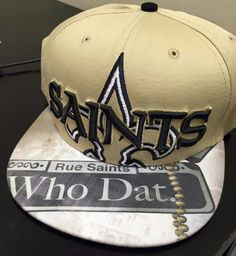 New Orleans Saints hat New Orleans Saints Hats, New Orleans Louisiana, Saints Gear, Down In New Orleans, Saints Football, Who Dat, Men's Outfits, Cat Names, Cool Hats