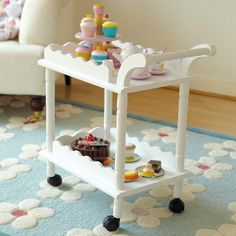 Time for Tea Toy Cake Caddy Food Trolley, Tea Trolley, Kids Playroom Storage, Playroom Ideas, Great Little Trading, Christmas Toys, Christmas 2014, Wendy House, Room Accessories