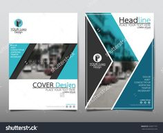 Blue Arrow Technology Annual Report Brochure Flyer Design Template Vector, Leaflet Cover Presentation Abstract Geometric Background, Layout In A4 Size - 426871741 : Shutterstock
