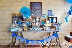 Cookie Monster boy 1st birthday party theme | CatchMyParty.com