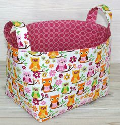 Fabric Basket.  This would be ideal for storing my knitting wips!