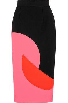 Roksanda Ilincic|Color-block crepe skirt|NET-A-PORTER.COM
