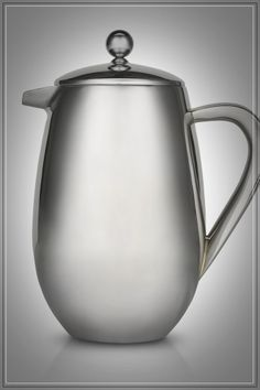 French Coffee Press: Elegant polished stainless steel press with double-walled design keeps fresh coffee hot for hours. I love mine. Epicure Recipes, French Coffee, Coffee Accessories, Herbal Tea, Iced Coffee, Easy Healthy Recipes, Cookware, The Selection, Herbalism