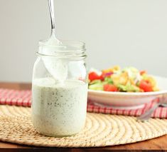 The Old Spaghetti Factorys Creamy Pesto Salad Dressing. This is my all time favorite dressing.