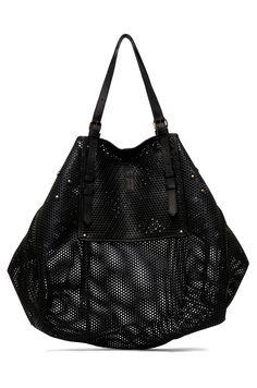 JEROME DREYFUSS  Pat Perforated Bag in Black