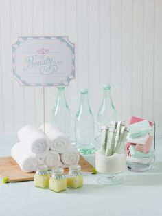 DIY Spa Party Favor Bar // collection of recipes + free printables  {Handcrafted Parties}