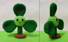 Crochet Blover i Plants vs zombies.