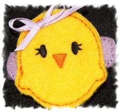 Easter Spring Baby Chick Custom Felt Hair by customdesignshoppe, $3.25